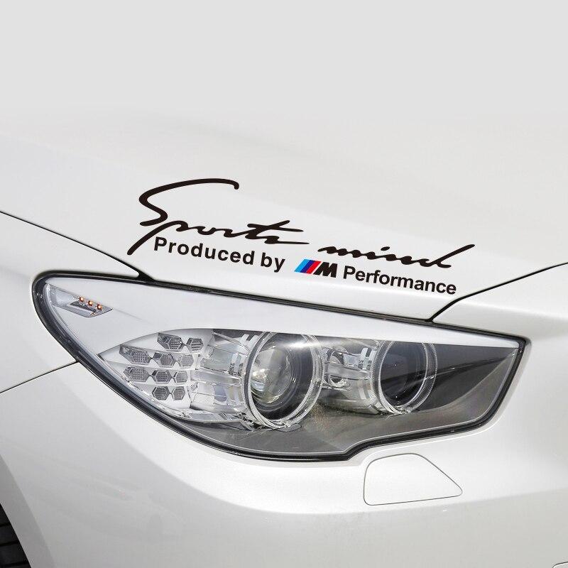 Etie Car-styling Sports Mind Produced By ///M Performance Power Sticker & Decal Accessories for BMW X1 X3 X5 X6 1 3 5 7 M Series автомобильная ключница huazun x1 x3 x5 x6 bmw 1 3 5