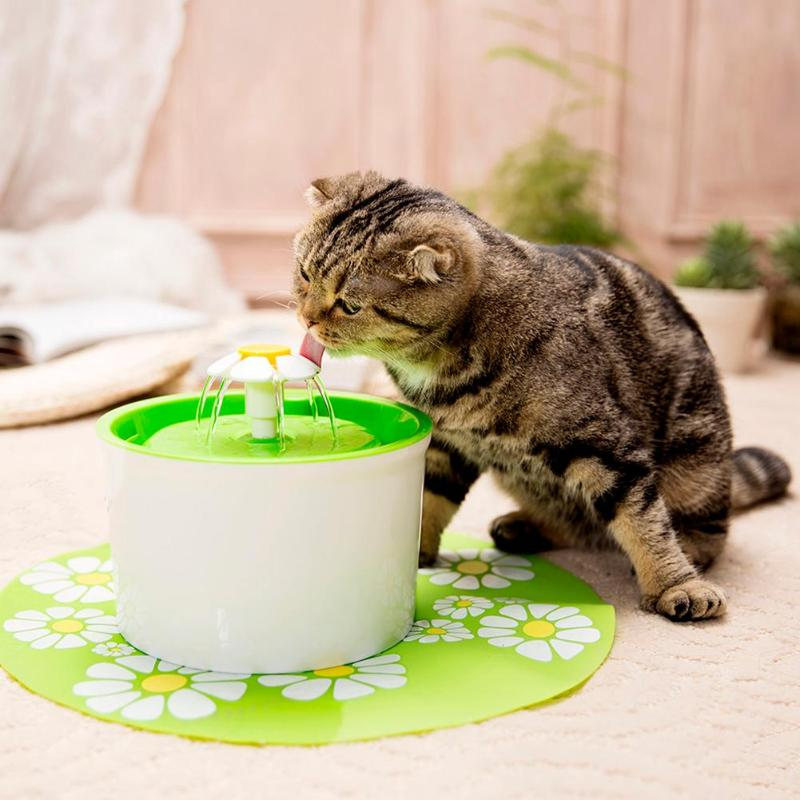 1.6L Automatic Cat Water Fountain Dog Electric Pet Bowl Drinking Dispenser Drink Dish Filter For Pet With a Circular Fountains