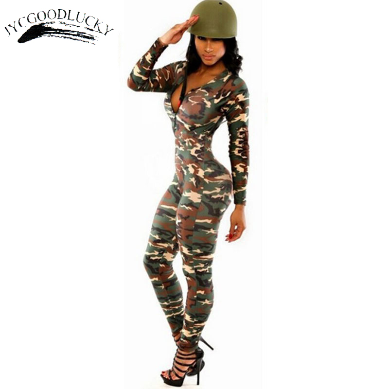 Camouflage Overalls Body Be It Rompers Womens   Jumpsuit   Playsuit Sexy Fitness   Jumpsuits   Combinaison Femme Slim Catsuit For Women
