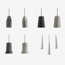 Industrial wind lamp retro nostalgic cement  modern simple creative personality loft art single-head restaurant lamps