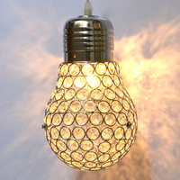 Big Bulb shaped crystal Pendant Light Restaurant Bar Glass hanging lights Aisle Corridor suspension lamp country loft
