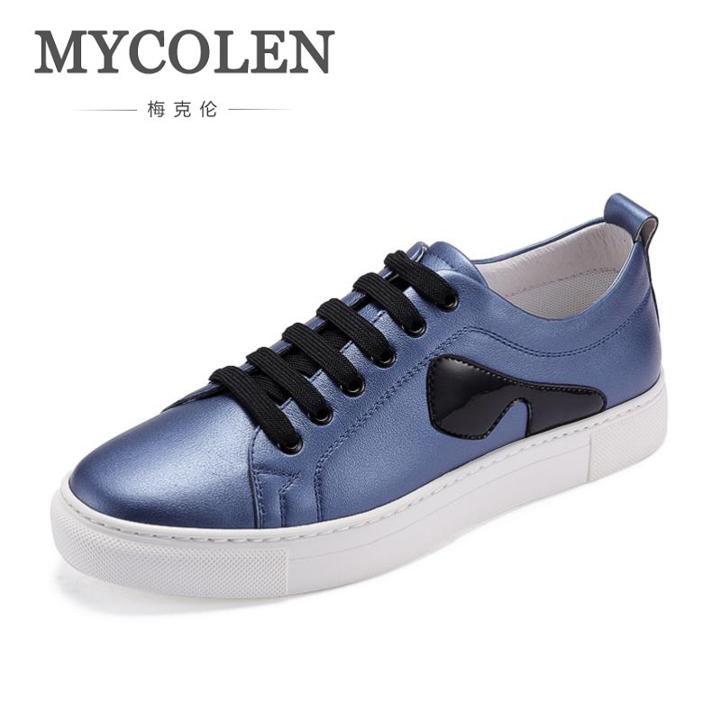 MYCOLEN New Fashion Shoes Men Brand Soft Leather Men's Casual Shoes Male Classic Ultralight Black White Shoes Sapatenis Men brand 2017 hoodie new zipper cuff print casual hoodies men fashion tracksuit male sweatshirt off white hoody mens purpose tour