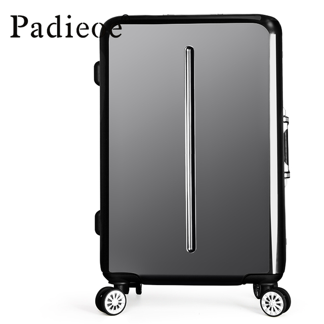 """2017 20""""24""""PC+Aluminum frame TSA Hardside spinner Metal corners travel trolley case rolling Luggage bags suitcase with wheels"""