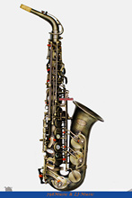 NEW Professional Eb Alto Saxophone Germany Brass-Antique Brass HANDMADE BODY