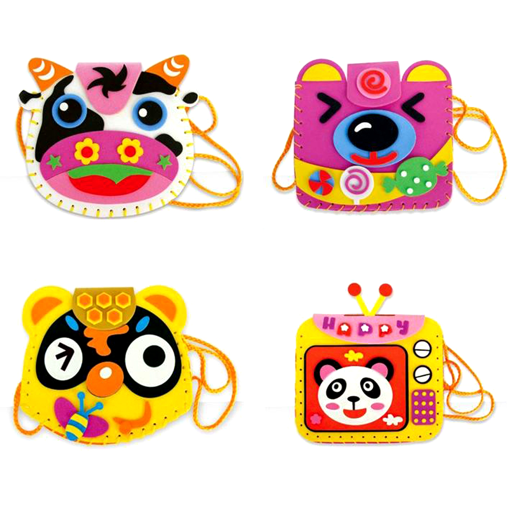 EVA-DIY-Bags-Cute-Flower-Handmade-Crafts-Cartoon-Sewing-Backpacks-Toy-Kids-Creative-Brain-Hand-Eye-Coordination-Traning-Toy-2