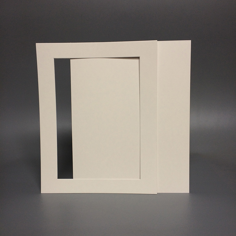Black White Cream Acid Free Cardboard 11x14\'\' Photo Frame with Mat ...