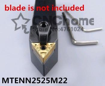 MTENN2525M22 herramientas de corte de torno de Metal, herramienta de torneado CNC, máquinas herramientas de torno, herramienta de torneado externo tipo MTENN 25*25*150