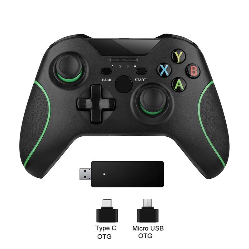 2.4g controlador sem fio gamepad para microsoft xbox um joystick controle para xbox um console para o vento de pc 7/8 joypad