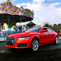 CAIPO Audi A7 Car Models 1:24 Alloy Pull Buck Diecast Car Model Toy Vehicles