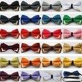 2016 Nueva Boutique de Moda Cabeza de Metal Pajaritas Para los Hombres Novio Mujeres Mariposa Gravata Corbata Bowtie Sólido Clásico Freeshipping