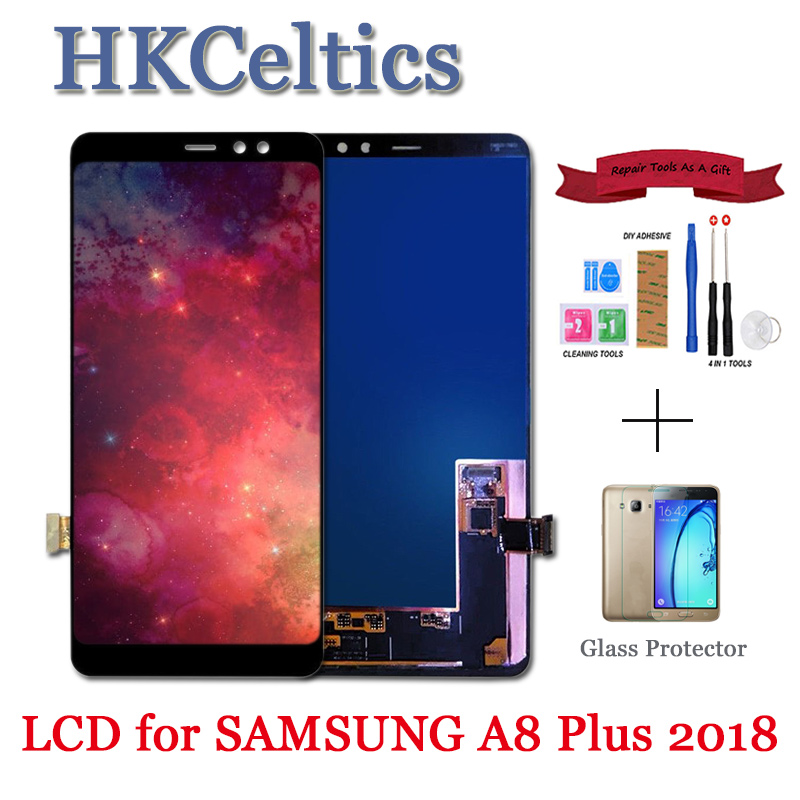 A530 New Display Replacement For <font><b>Samsung</b></font> Galaxy A8 <font><b>A530F</b></font> lcd+touch <font><b>screen</b></font> digitizer 2018 Plus A730 A730F Assembly Repair Parts image