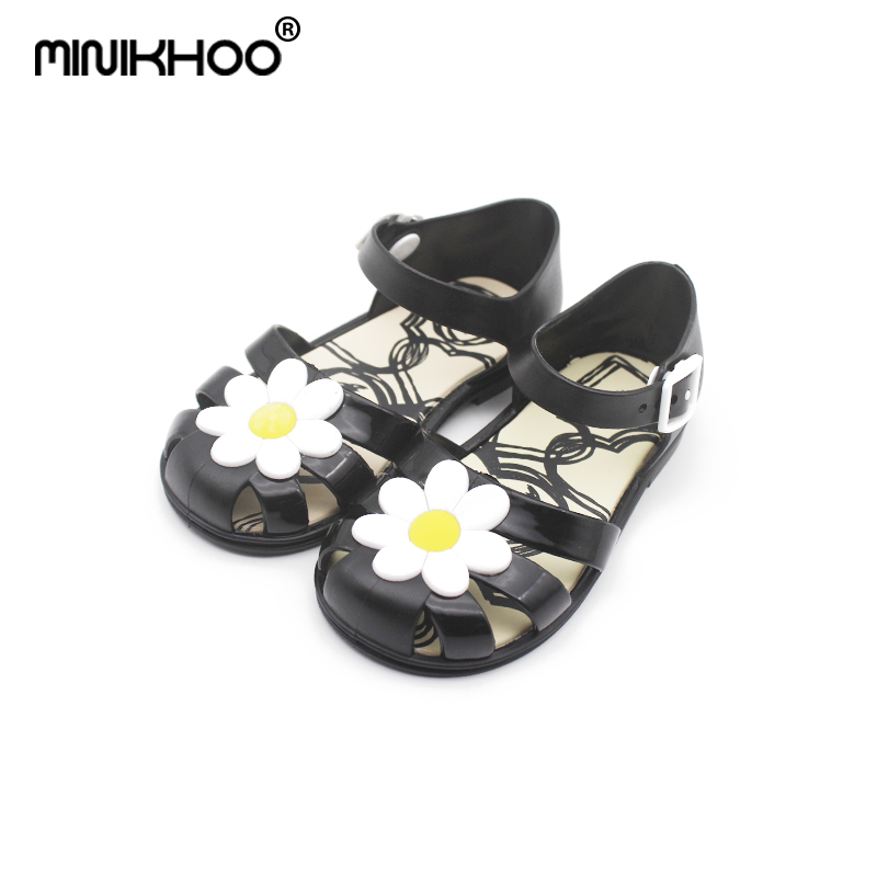 Mini Melissa 2018 New Mini Jelly Sandals Children Leisure Non-slip Flowers Cool Sandals Melissa Princess Roman Shoes Shoes