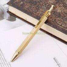 Прочный шестигранный пресс металлическая шариковая ручка для бизнеса 0,5 мм перо школьные офисные канцелярские принадлежности подарки для студентов C26
