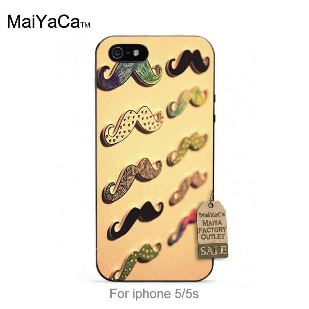 Maiyaca черный ТПУ силиконовый дизайн моды кожа тонкий сотовый для случая iPhone 5S 6S 6S плюс 7 7 Plus много усы шаблон