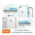 100% Original SGP Caso Híbrido Ultra Para el iphone 6 s/6/iPhone 6 Plus/6 s Plus-Premium de Clear Trasero Duro Panel casos