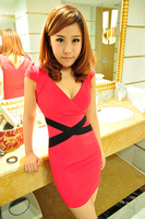 знатных элегантный тонкий хип сексуальное передне в воротник мода популярные : тонкий мини платье