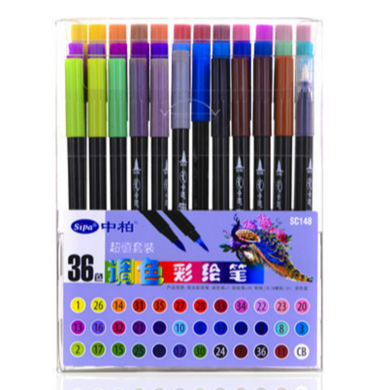 Markers Brush Tip for School Artists Drawing Set Art Supplies Sketch Water Color Calligraphy Brush Pen