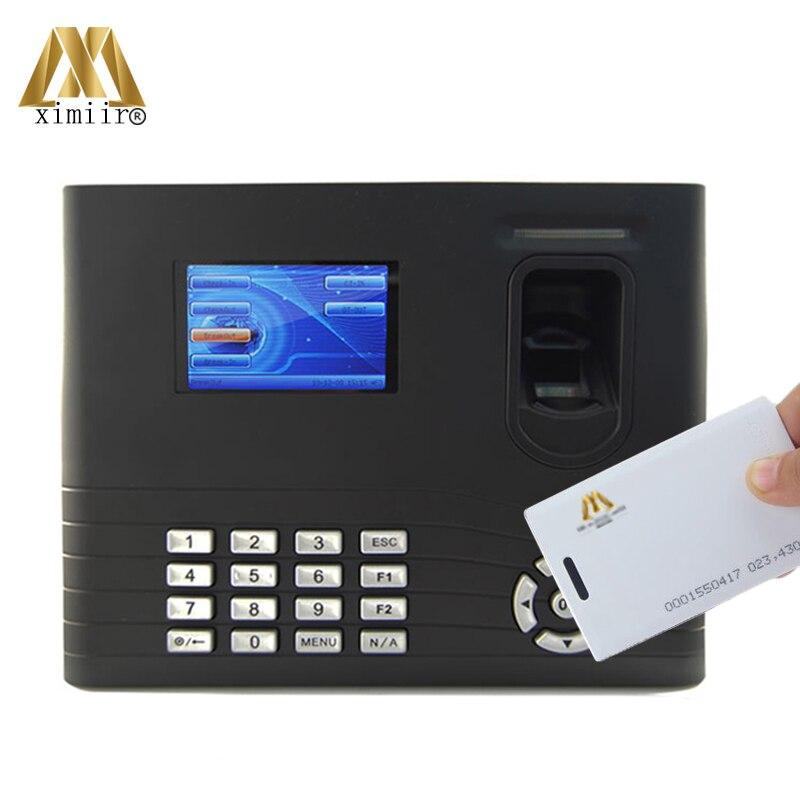 Biometric IN01 ID Card  Fingerprint Time Attendance TCP/IP Fingerprint Time Attendance With Back Up Battery Optional WIFI/GPRS