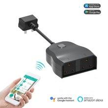 Exuanfa EU Smart wifi socket home outdoor waterproof supports Alexa Google IFTTT APP British regulatory regulations