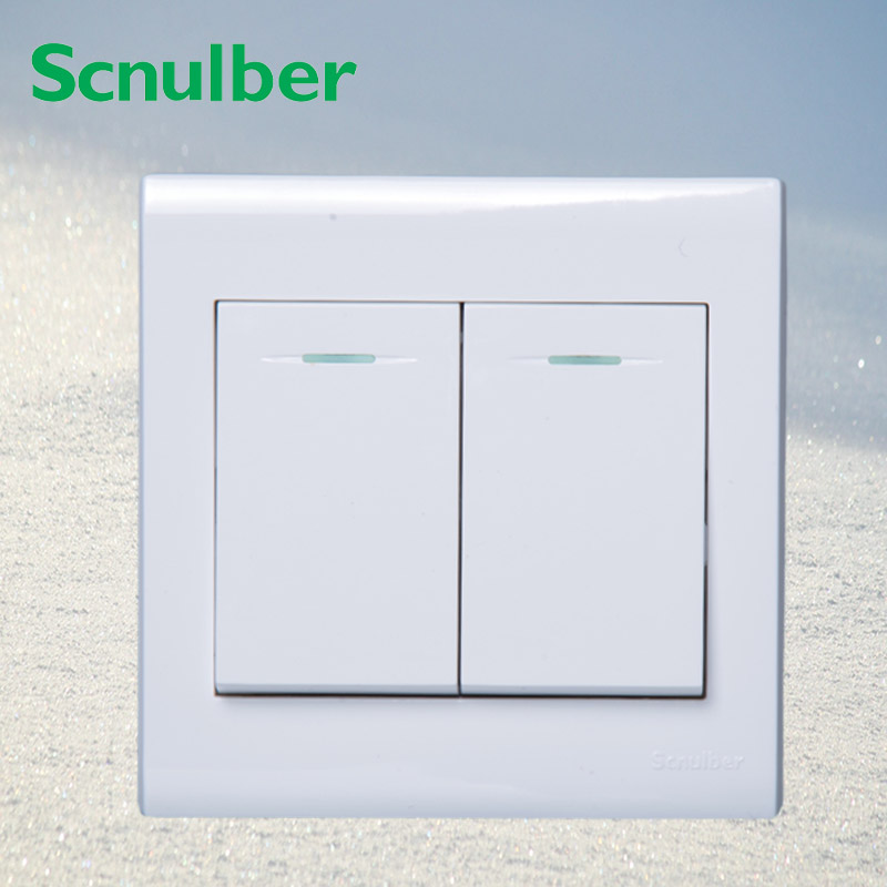 230v luxury white 10a hotel indicator light 2way 2 gang wall switch touch 230 om 8gb 230 white