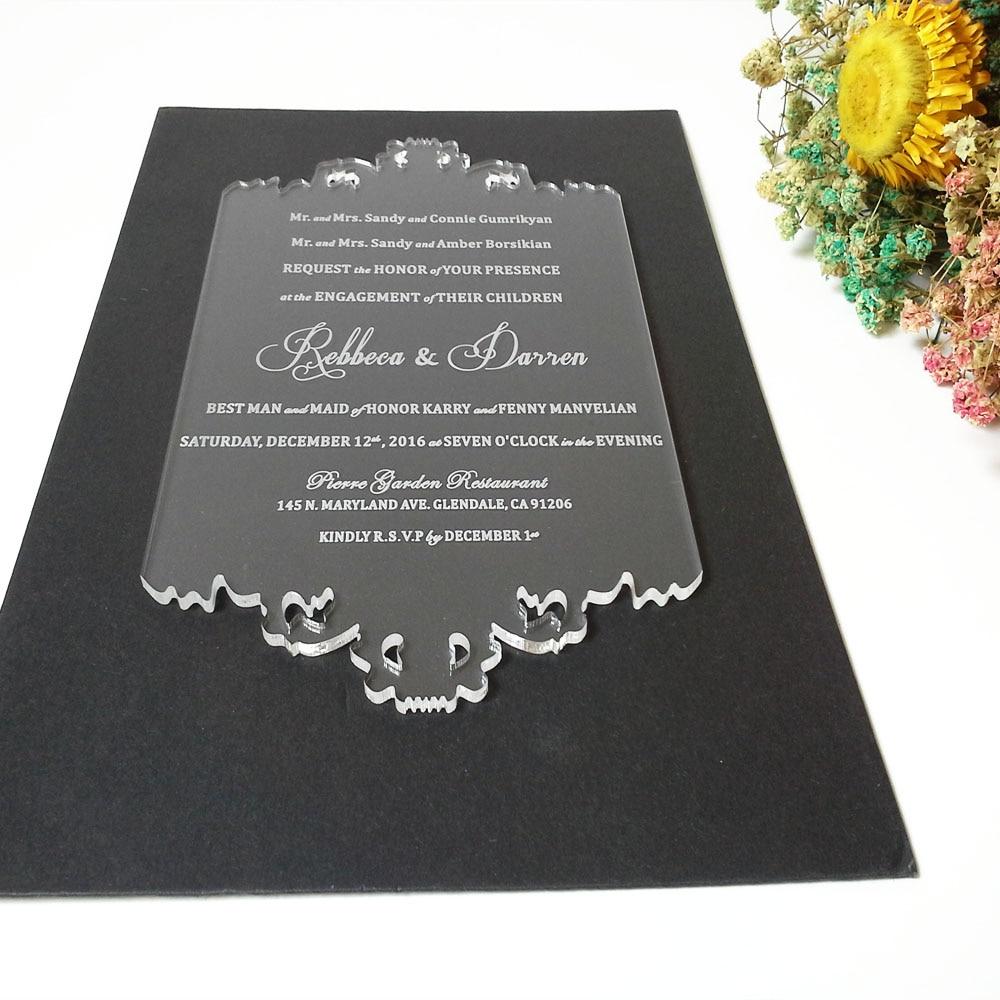Tarjeta personalizada de invitación de boda de acrílico - Para fiestas y celebraciones - foto 3