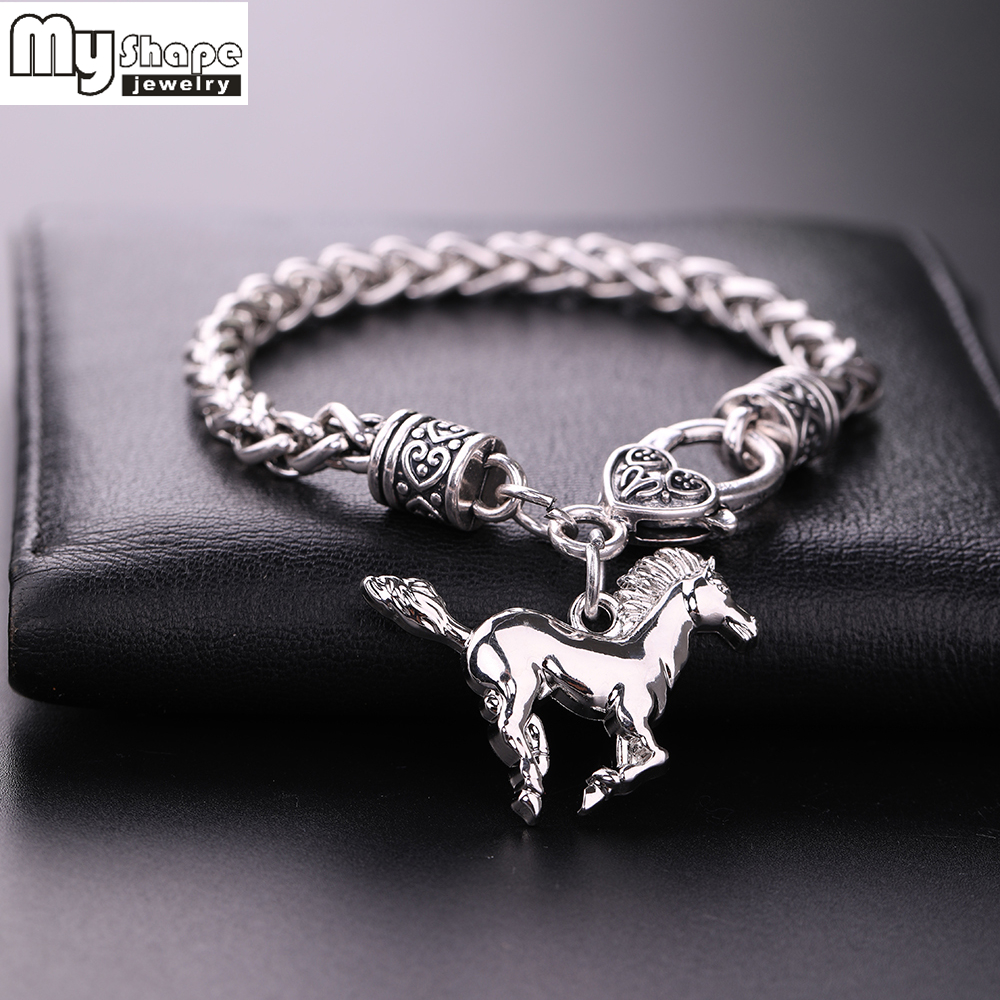 Silver Plated Fashion Charm Bracelet