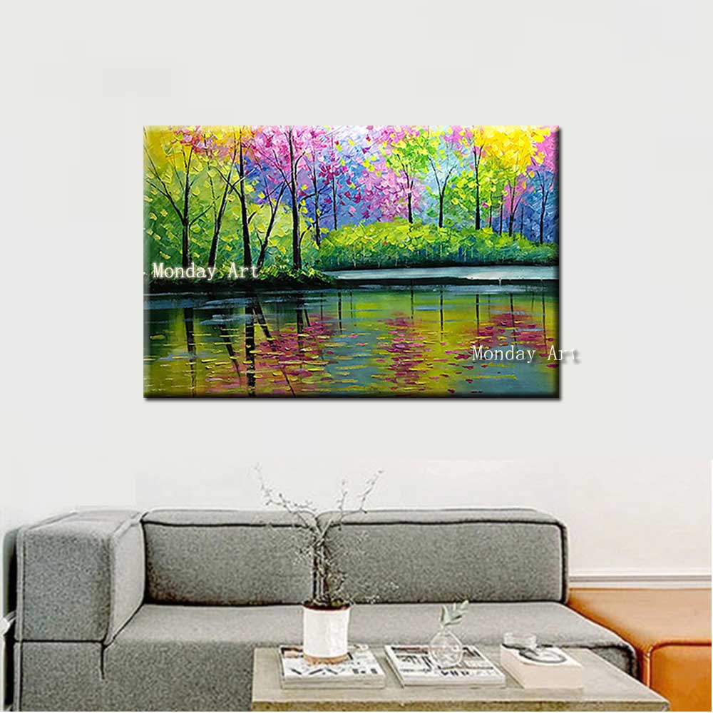 Mega Sale A717f Dropshipping Gift Hand Painted Modern Forest