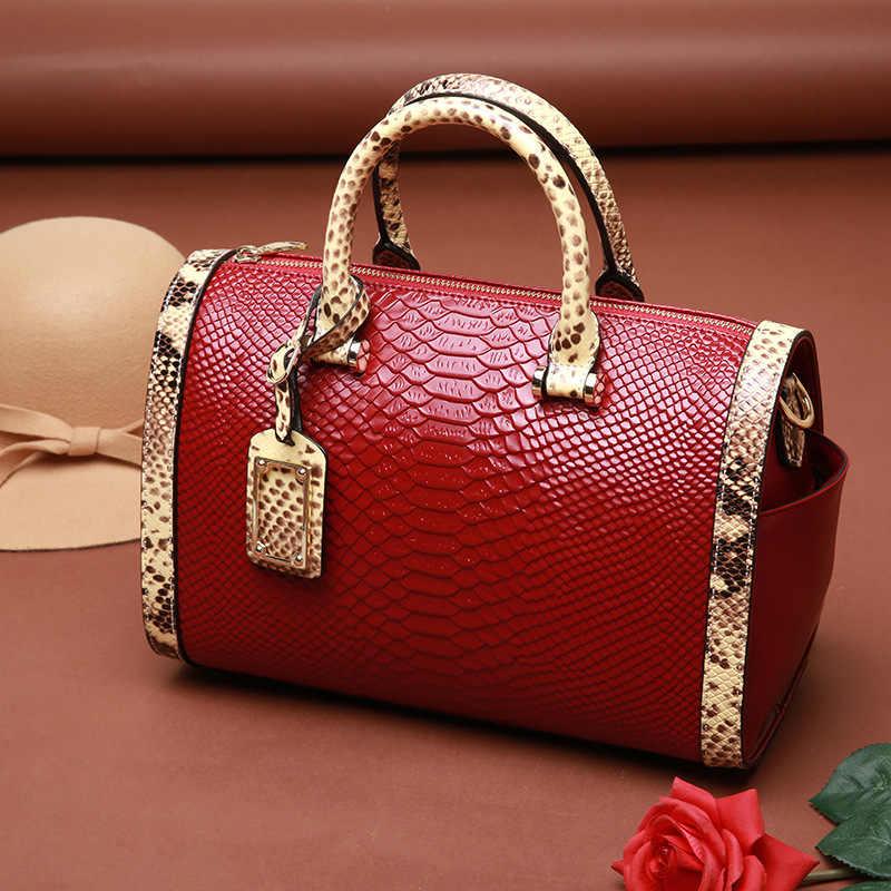 Бостонская сумка с наклонным плечом Женская сумочка женская разрезная кожаная сумка Sac 2018 женские сумки женские известные бренды сумка-мессенджер
