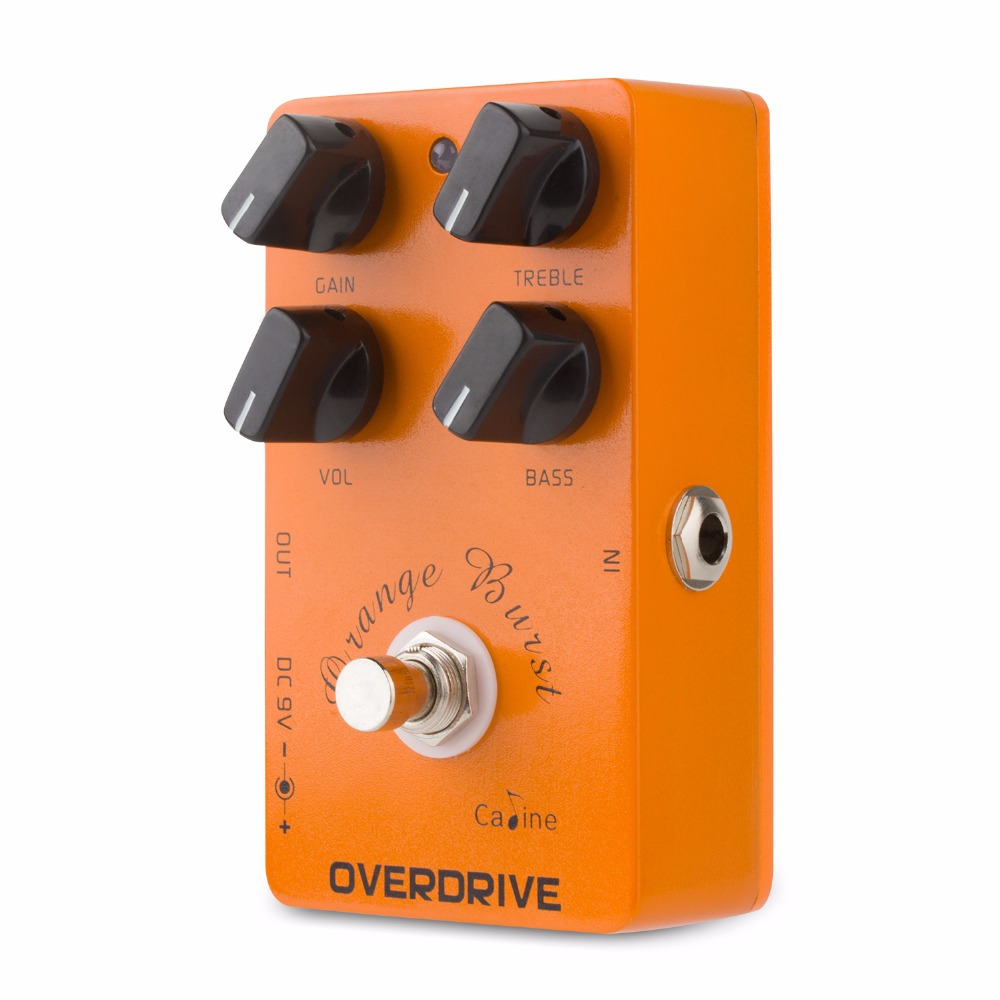 High Quality Caline CP-18 OD Orange Burst Guitar Effect Pedals Overdrive Effect Pedal Pre AMP Guitar Pedal True Bypass Design image