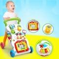 0-2Y con Ruedas Plegable de Coche de Bebé de la Alta Calidad Ajustable Ayuda Andador Coche Paseo de Aprendizaje Infantil Actividad Musical Andador
