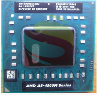 AMD A8 4500M AM4500DEC44HJ Laptop CPU Quad Core A8 4500M 1 9G FS1 A8 Series Similar