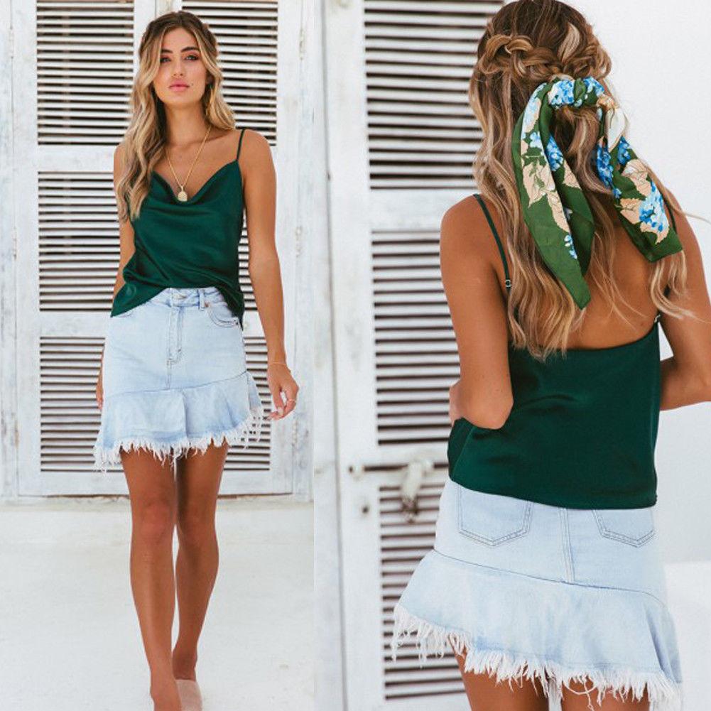 HIRIGIN Summer Women Short Sleeve Lady Chiffon Loose Casual Tops Summer Pop Camis