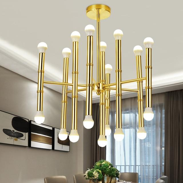 Vendita calda moderna illuminazione lampadario oro E14 lampade per ...
