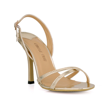 Schwarze Arbeitsschuhe | CHMILE CHAU Schwarz Perle Sexy Party Frauen Schuh Stiletto Ferse Zurück Schnalle Arbeit Büro Sandalen Zapatos Mujer Plus Größen 158-b