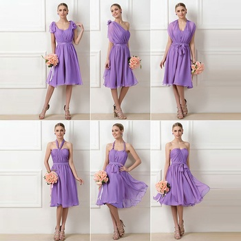 Tanpell a line ruched bridesmaid dress dark lilac sleeveless knee length gown lady wedding party custom short bridesmaid dresses фото