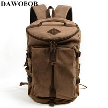 цены Fashion Men's Travel Backpack Canvas Men's Travel Bags Large Capacity Laptop Backpack Male Leisure Tote Bag Multi-function Schoo