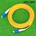 KELUSHI 3 M LC-LC Puente De Fibra Óptica Cable de SC/UPC-LC/UPC Fibra Óptica Patch Cord monomodo Herramienta de conexión
