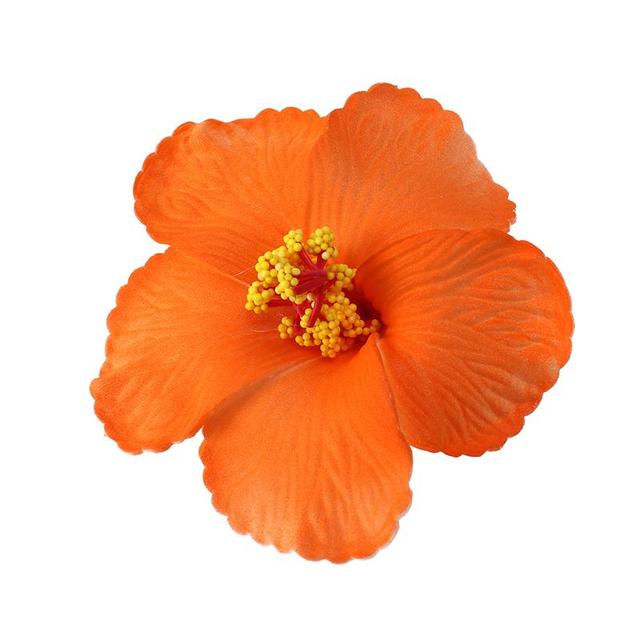 1 Pc Hibiscus Flowers Hawaiian Flowers Artificial Flowers for     1 Pc Hibiscus Flowers Hawaiian Flowers Artificial Flowers for Tabletop  Decoration Party Favors Supplies