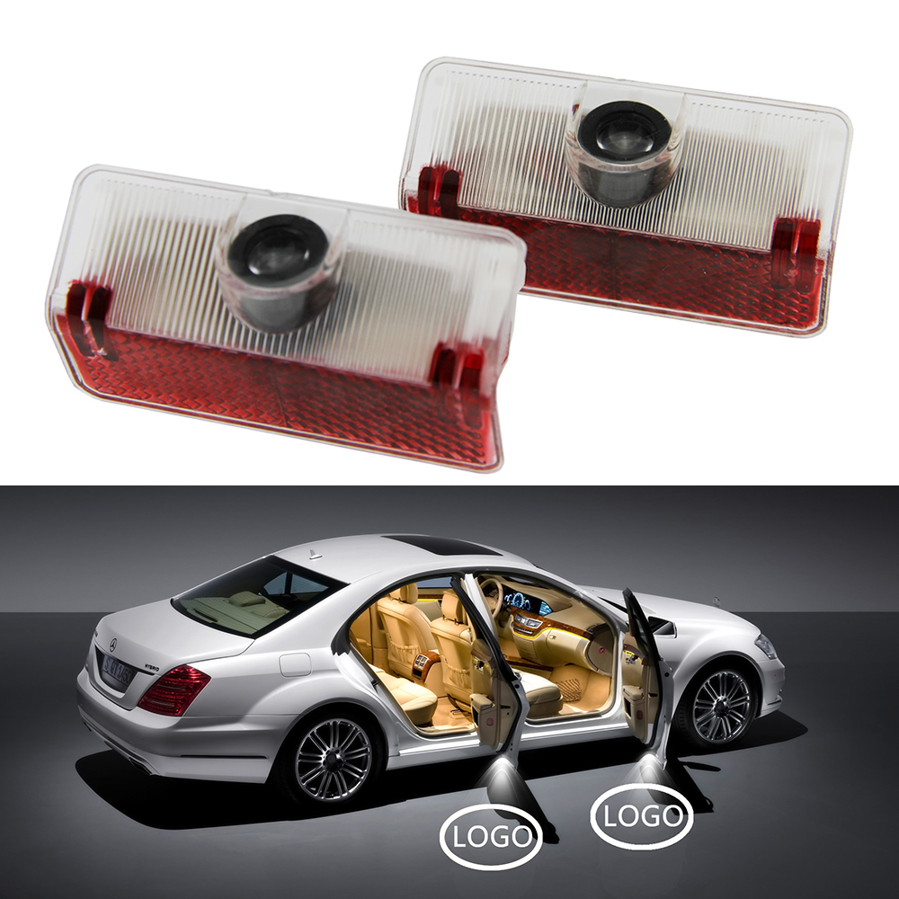 2x Car Door Welcome Light For Mercedes Benz GLK A B Class X204 W169 W168 W245 Accessories LED Courtesy Lamp Projector Shadow