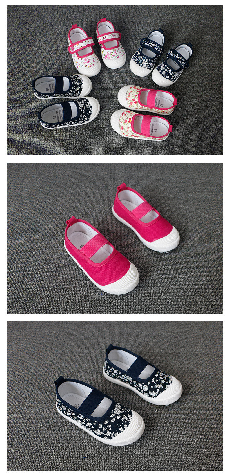 17 children's spring kids baby girls Candy colors floral princess shoes canvas sneakers Toddler infantil shoes for girls 3