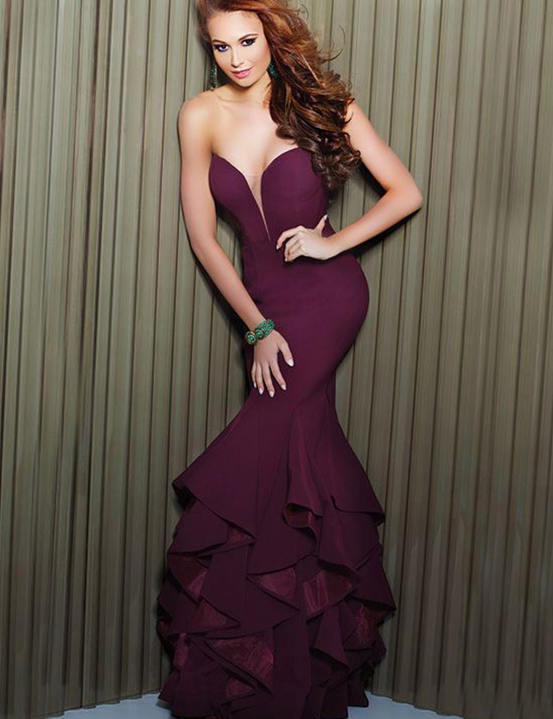 online buy wholesale dark purple prom dress from china
