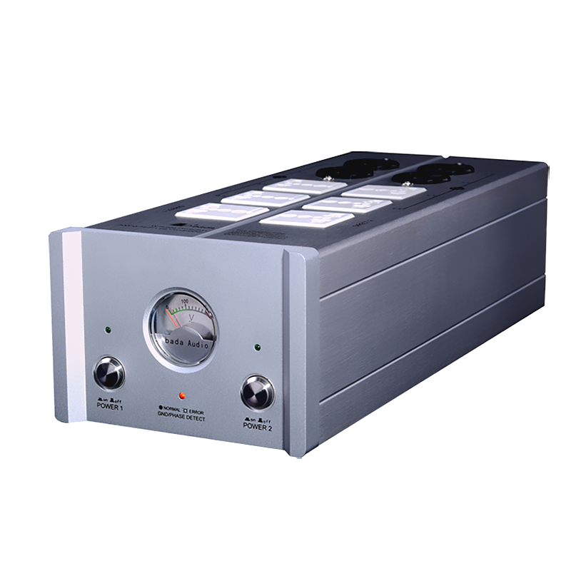 High quality Power Supply Filter EMI Power Socket Lightning Protection With Voltmeter extension socket For HiFi