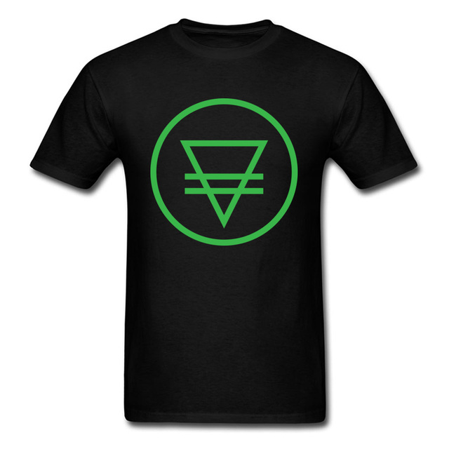 Simple Style Symbol Tshirt For Men Earth Element Symbol Natural