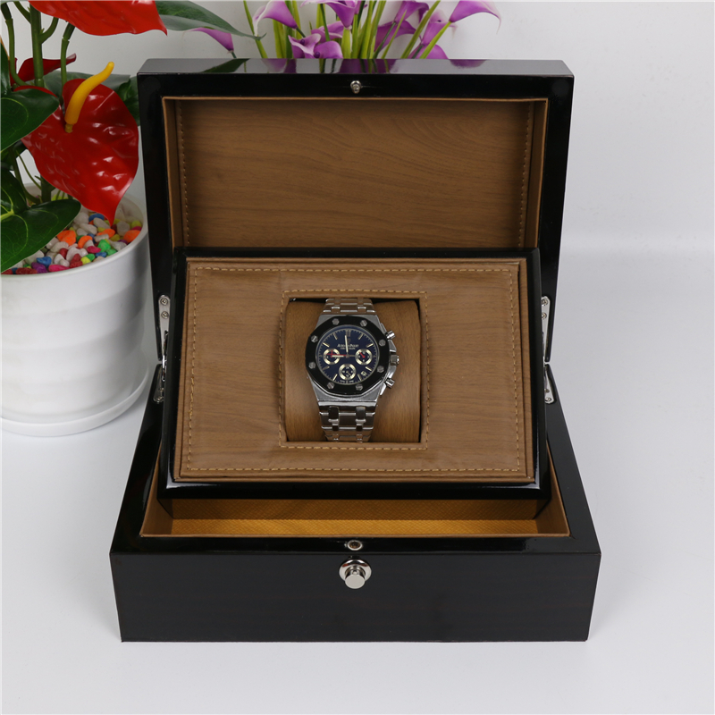 Top Wood Watch Box Classic Black High Light Wooden Watch Storage Box Fashion Watch Display Jewelry Gift Cases W032  black out watch box
