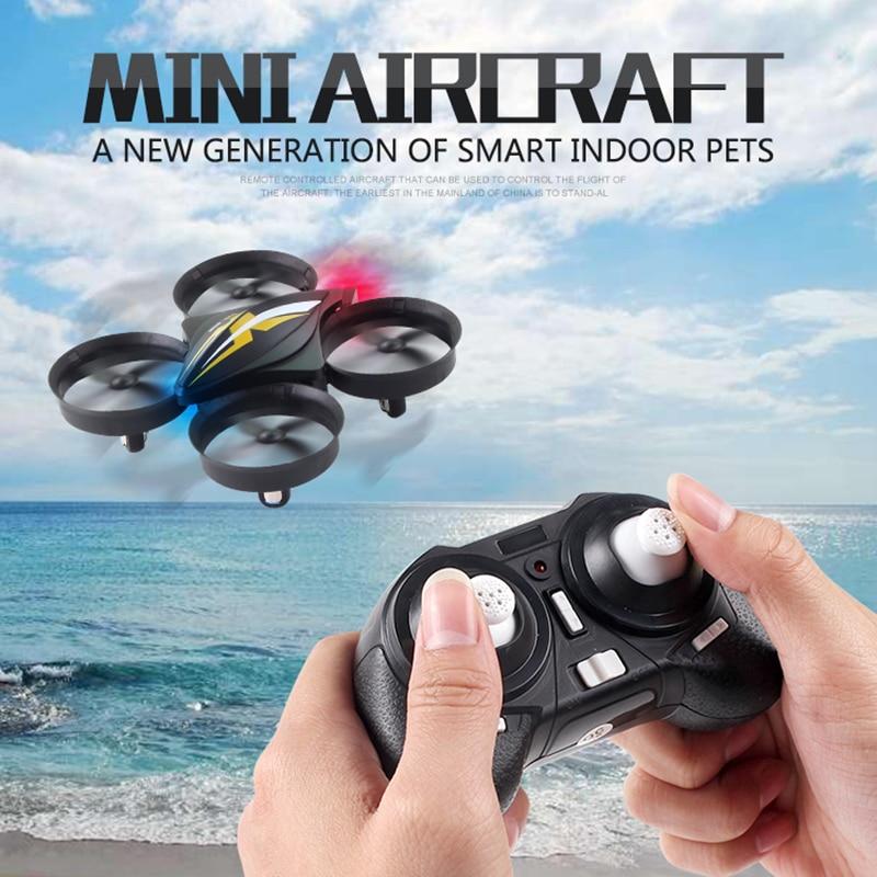 Mini Dron modo sin cabeza Quadcopter 6 ejes Gyro Quadrocopter 2,4 GHz Drones Control remoto RC helicóptero VS H36 E010 Dron