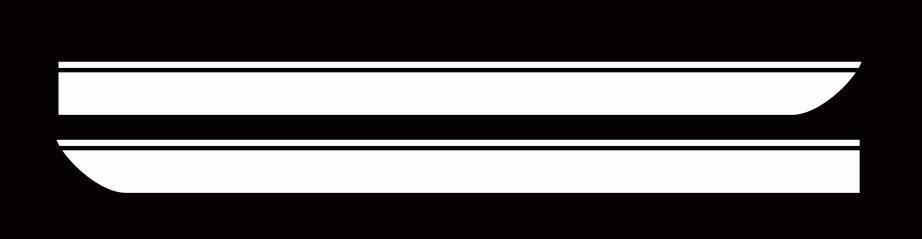 Для BMW MINI CooperS F55 F56 F54 R55 наклейки для боковой юбки автомобиля Аксессуары для кузова подходят на 3-5 дверей Спортивные полосы наклейки - Название цвета: Белый