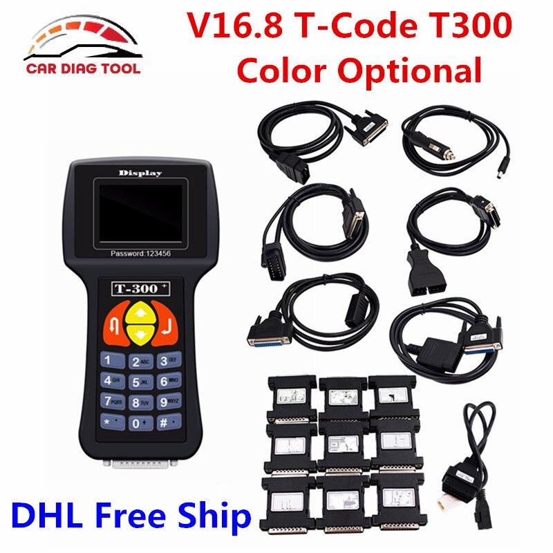 Цена за 2017 высокое качество T300 Ключевые программист V16.8 Авто транспондера ключевых декодер T-300 Профессиональные t 300 Ключи Maker DHL Бесплатная доставка