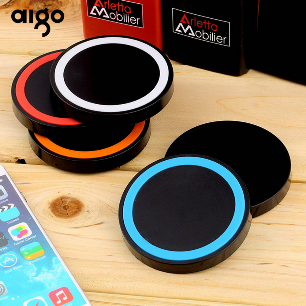 Handy Qi Us 4 6 Aigo Built In Temperature Regulation Chip Lightweight Handy Universal Qi Wireless Power Charging Charger Pad For Iphone Xiaomi In Wireless