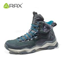 RAX Mens Waterproof Hiking Shoes Genuine Leather Mountain Hiking Boots Men Breathable Trekking Shoes Outdoor Man