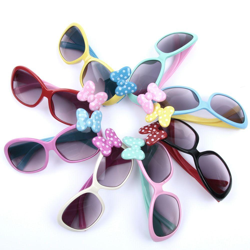 KLASSNUM Anti-UV Sunglasses Kids Boys Baby Girls Cartoon 8 Color Goggle Glasses Bow